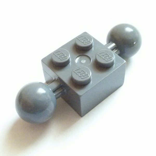 Dark Bluish Gray Technic Brick Modified Black 2 x 2 Ball Ends