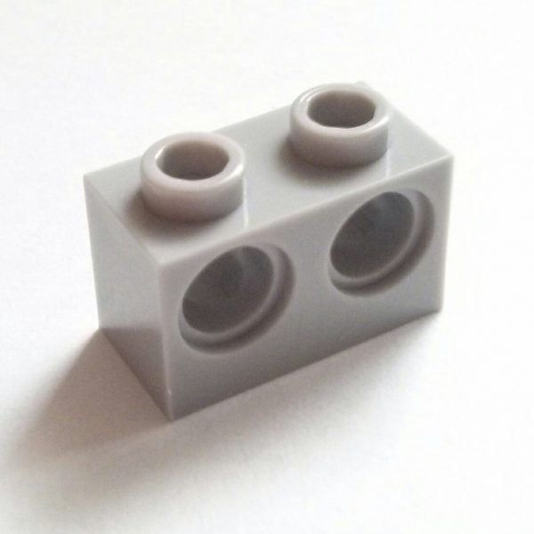 Light Bluish Gray Technic Brick 1 x 2 w/ 2 Holes