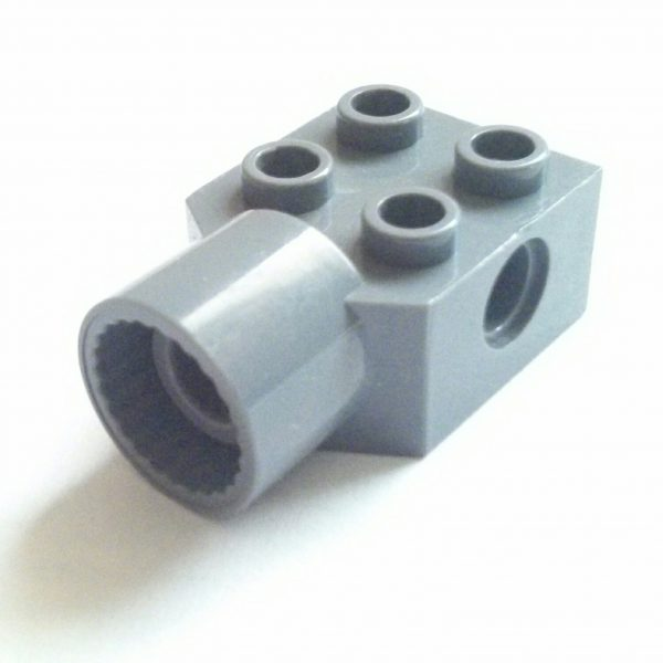 Dark Bluish Gray Technic Brick Modified 2 x 2 rotation socket