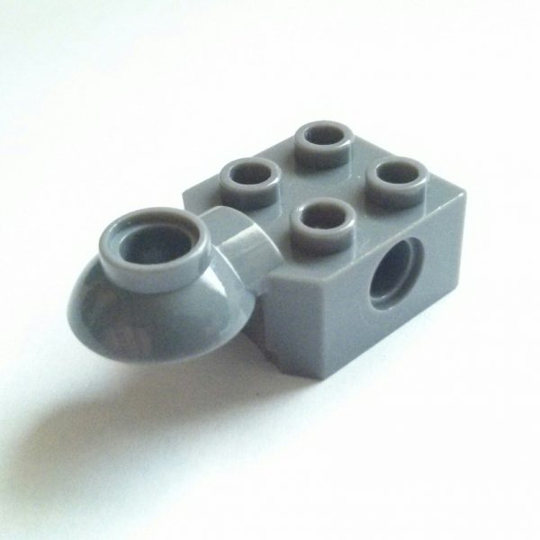 Dark Bluish Gray Technic Brick Modified 2 x 2 Rotation Joint Ball Half Horizontal