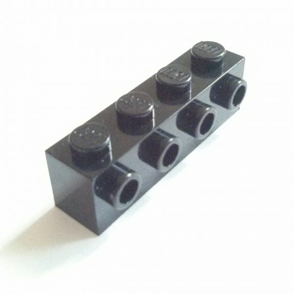 Black Brick Modified 1 x 4 w/ 4 side Studs Used