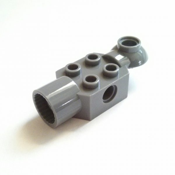 Dark Bluish Gray Technic Brick Modified 2 x 2 w/ rotation socket ends