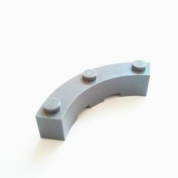 Dark Bluish Gray Brick Round Corner 4 x 4 Macaroni