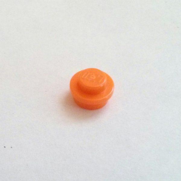 Orange Plate Round 1 x 1