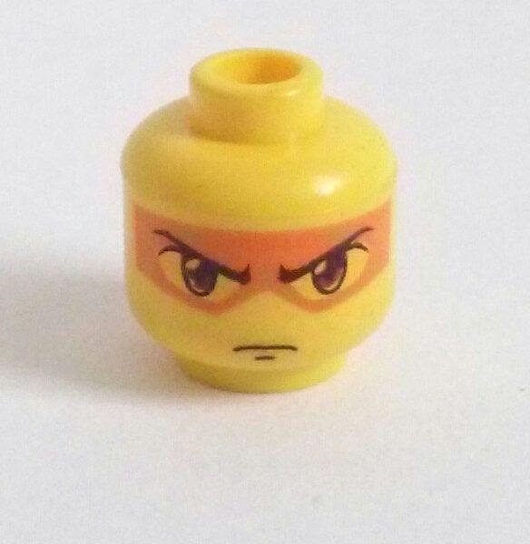 Yellow Dual Sided Minifigure Head Hikaru