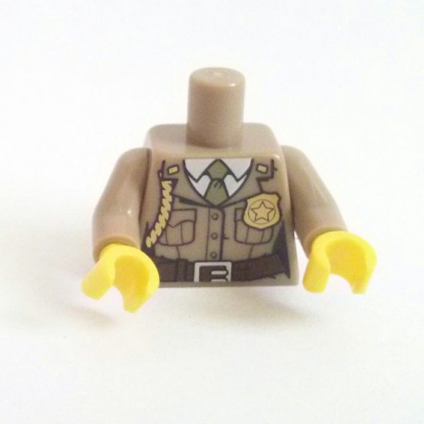 Dark Tan Forest Police Minifigure Torso