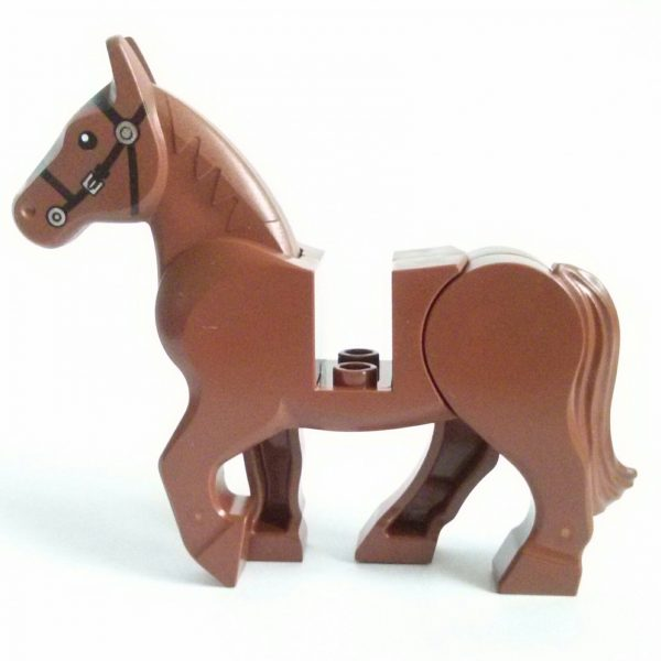 Reddish Brown Horse Moveable Head and Back Legs