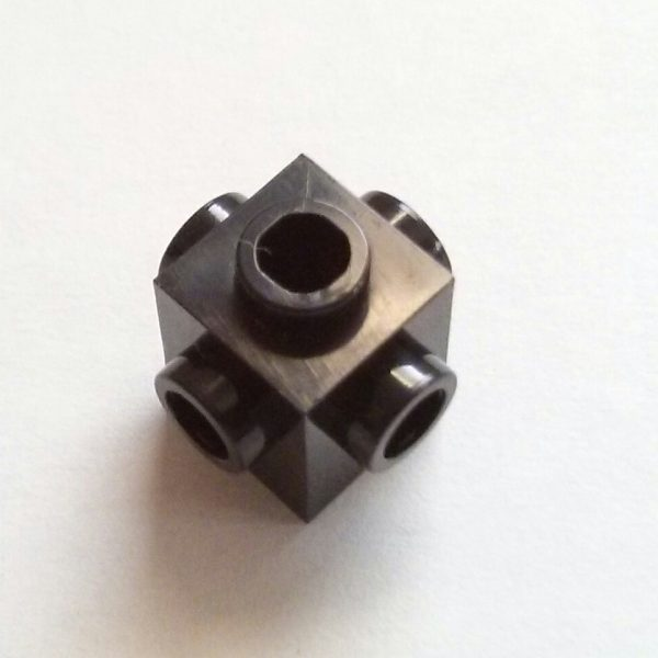Black Brick Modified 1 x 1 with 4 Studs