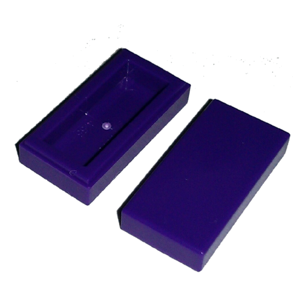 Purple Tile 1 x 2