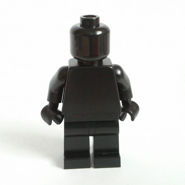 Black Lego Monochrome Minifigure