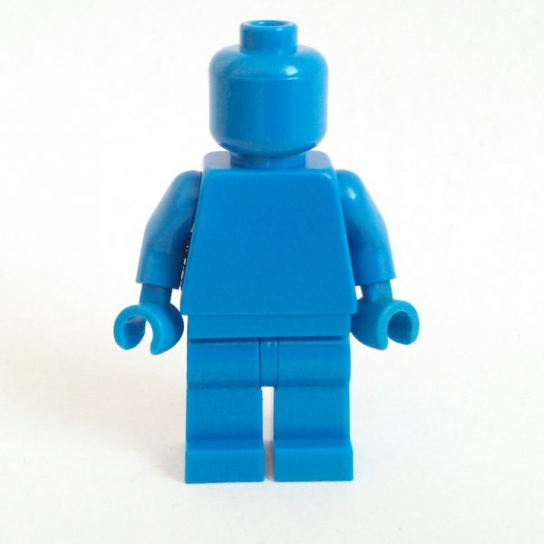 Blue Lego Monochrome Minifigure