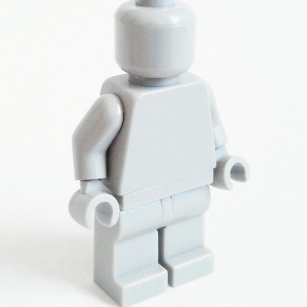 Light Bluish Gray Lego Monochrome Minifigure