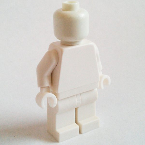 White Lego Monochrome Minifigure