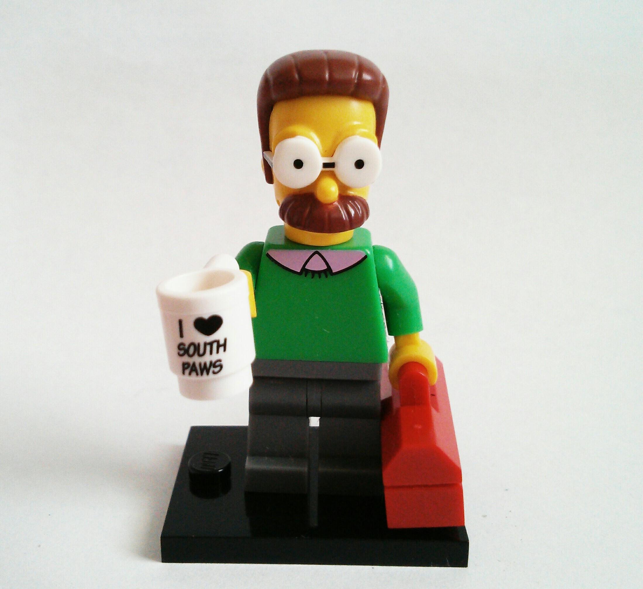 NED FLANDERS LEGO 71005 Minifigures Serie 1 The Simpsons NUOVA