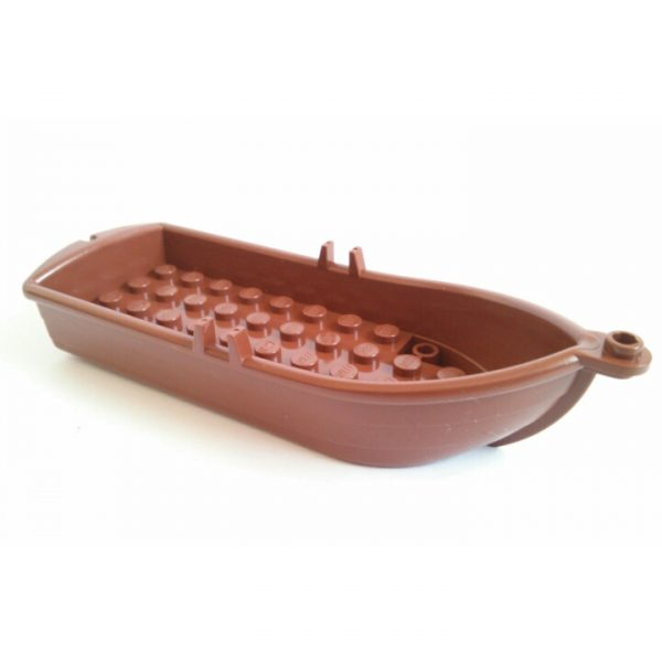 Reddish Brown Boat 14 x 5 x 2