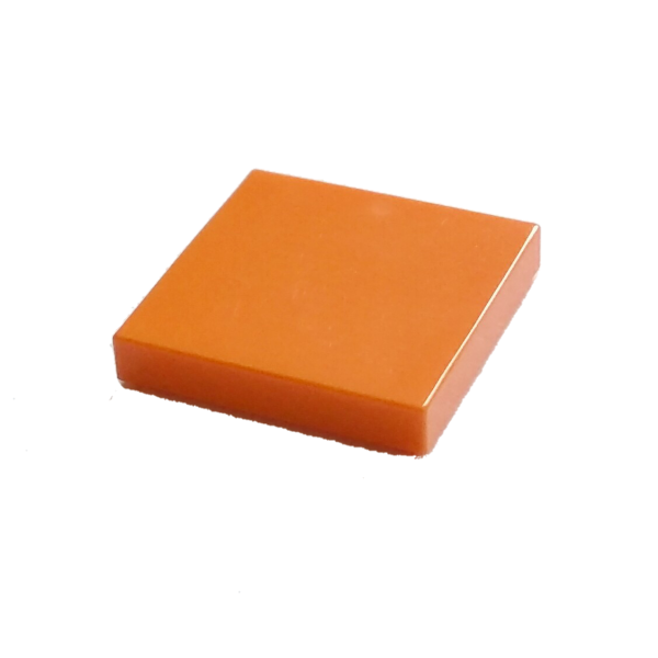 Bright Orange Tile 2 x 2